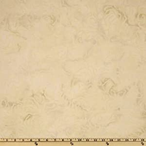 44'' Wide Artisan Batik: Elementals Nature Abstract Ecru Fabric By The Yard