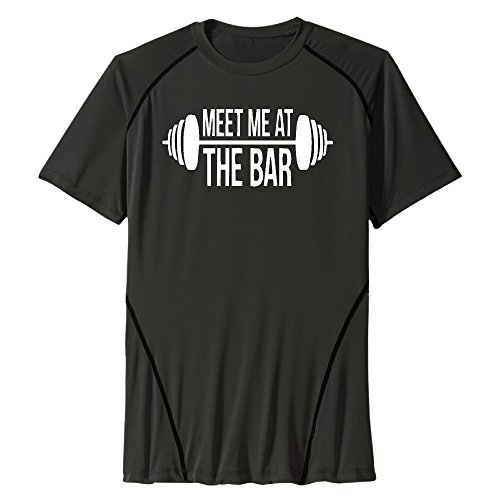 Men's Meet Me At The Bar Polyester Training T-shirts (Bar Keepers Friend Grill compare prices)