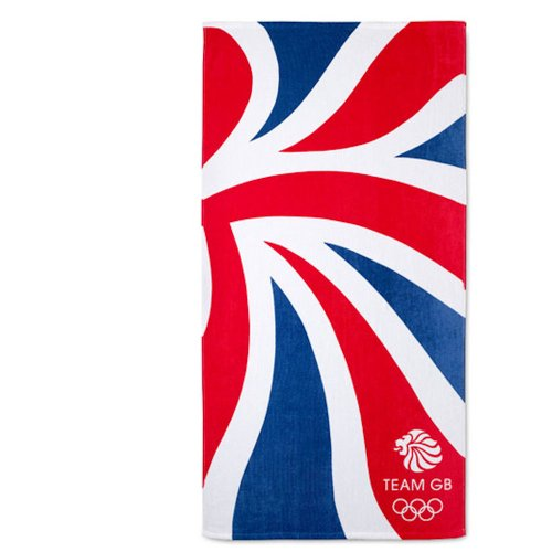 Olympic 2012 Dynamic Team GB Large Red White & Blue Beach Bath Towel OFFICIAL