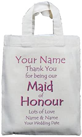Small Personalised Wedding Gift Bags : ... Small Natural Cotton Wedding Favour / Gift Bag: Amazon.co.uk: Clothing