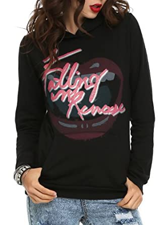 Falling In Reverse Pop Mouth Girls Pullover Hoodie Size : Large