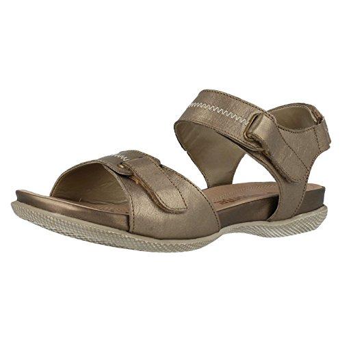 Remonte Dorndorf R7450sandali da donna-oro scarpe in taglie forti, Giallo (oro), 42