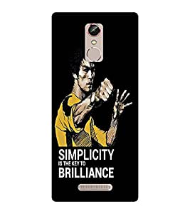 EPICCASE Keep it Simple Mobile Back Case Cover For Gionee S6S (Designer Case)