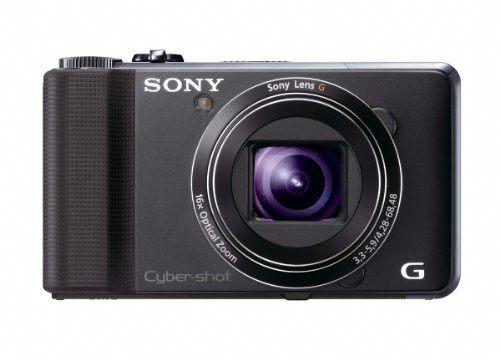 Sony DSCHX9VB Cyber-shot Digital Still Camera - Black (16.2MP, 16x Optical Zoom) 3 inch LCD