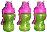 Evenflo Alimentaci�n Advanced Swing Mango Pack de 3�vasos con pajita, color verde/rosa
