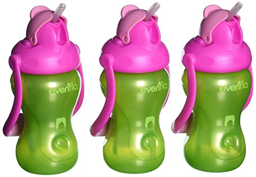 evenflo-alimentacion-advanced-swing-mango-pack-de-3-vasos-con-pajita-color-verde-rosa
