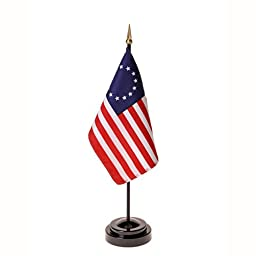 Betsy Ross Flag 4X6 Inch Mounted E Gloss