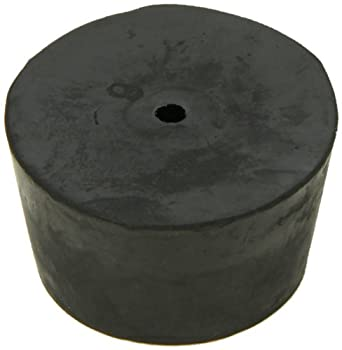 American Educational Imported Black Rubber Stopper with 1-Hole 45mm Top Diameter 37mm Bottom Diameter 9 Size 25mm Length (5 lb Bag)