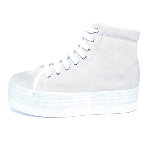 JEFFREY CAMPBELL - .HOMG SUEDE WASH - WHITE W (36)