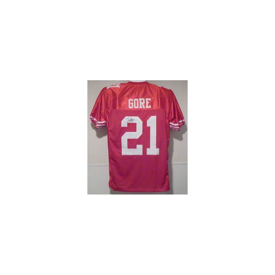 Frank Gore Autographed San Francisco 49ers Red Size XL