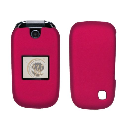 AT&T ZTE Z221 Rubberized Hard Case Cover - Rose Pink