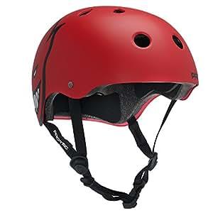 Protec Spitfire Helmet (X-Large, Matte Black/Red)