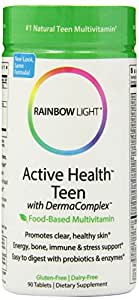 com rainbow light active health teen multivitamin 90 tablets health. Black Bedroom Furniture Sets. Home Design Ideas