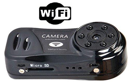 超小型WiFiダイレクトカメラ赤外線LED付(スマホから簡単にアクセス)、リアルタイムにビデオ&音声をスマホで見れます。