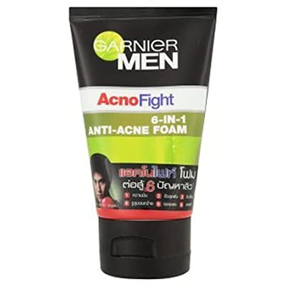Garnier Face Cleanser for Men Acno Fight 6 in 1 Anti-acne Facial Foam 50ml. by GN9365