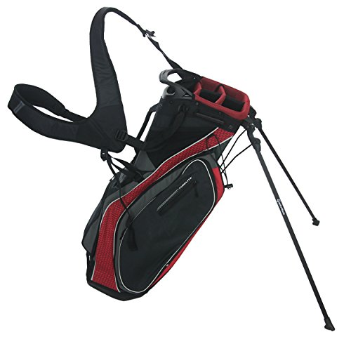 TaylorMade Pure-Lite 2016 Custom Black/Red/Grey Golf Bag (Taylormade Purelite Stand Bag compare prices)