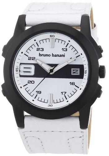 Bruno Banani - BR21091 - Montre Homme - Quartz Analogique - Bracelet Cuir Blanc