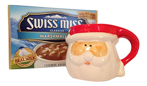 Ho Ho Ho Santa Claus Mug and Swiss Miss Hot Cocoa Gift Set Bundle: 2 Items (Chocolate Marshmallow Santa compare prices)