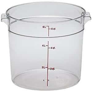 Cambro Round 6-Quart Storage Container, Clear