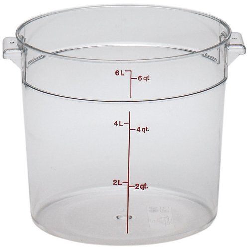 Cambro Round 6-Quart Storage Container, Clear (6 Qt Dough Bucket compare prices)