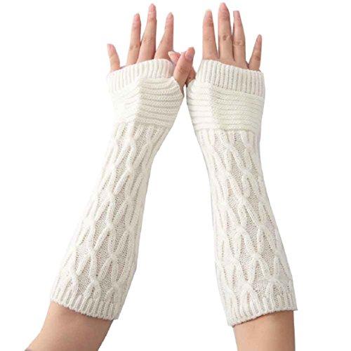 vovotrade-gants-femmes-mode-tricotee-arm-sleeve-fingerless-hiver-doux-chaud-mitten-blanc