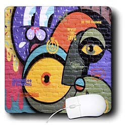 Spiritual Awakenings Graffiti Art - Abstract graffiti painting modern retro design - Mouse Pads