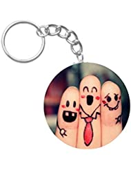 Friends Forever | ShopTwiz WOODEN Circle Key Ring