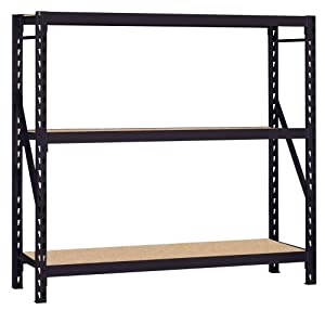 Edsal Muscle Rack 7224PRB 72-Inch Wide by 24-Inch Deep by 72-Inch High Heavy Duty Rack, Black at Sears.com