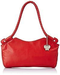 Butterflies Trendy Handbag (Red) (BNS 0304 RD)
