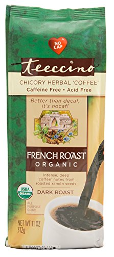 Teeccino French Roast Organic Chicory Herbal Coffee Alternative, Caffeine Free, Acid Free  11oz (Pack of 3) (Alternative Coffee compare prices)