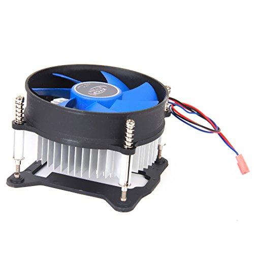 Générique Ventilateur Refroidisseur de Processeur Dissipateur de Chaleur CPU pour 65W Intel Socket LGA 1155/1156 Core i3/i5/i7