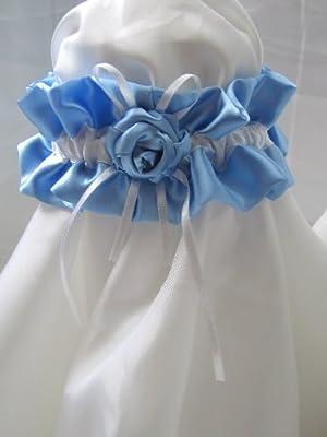 blaues Strumpfband zur Hochzeit