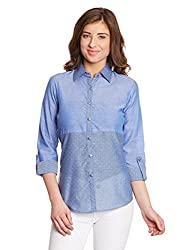 Shakumbhari Women's Body Blouse Shirt (SW-732-L_Blue)