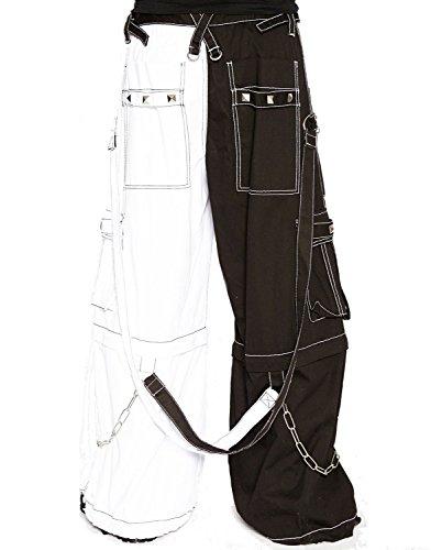 Tripp Bondage Cyber Goth Rave Electro Techno Shorts Baggy Pants Jeans (XL-38)