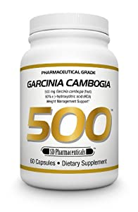 SD Pharmaceuticals Garcinia Cambogia 500 Capsule, Weight Management Support, 60 Count