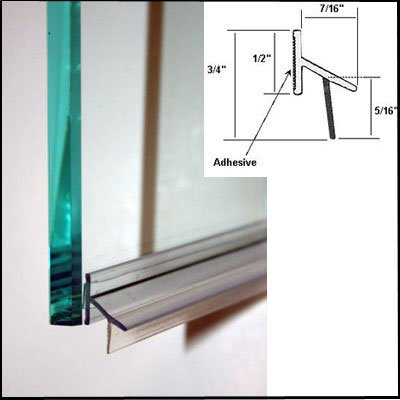 Shower Door Drip Rail w/ VHB Tape