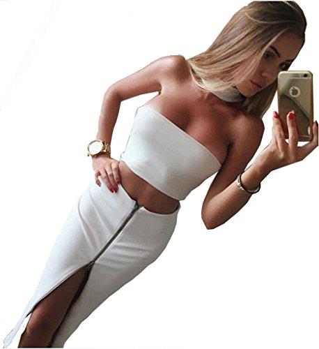 alaix-womens-halter-senza-spalline-senza-maniche-due-pezzi-gonna-aderente-zipper-abiti-white-m