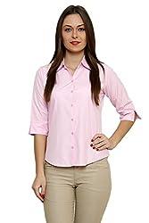 ZX3 Women's Poly Cotton Shirt(Shirt_1004_3XL, Pink, XXX-Large)