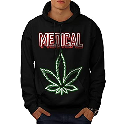 Medical Cannabis Hash Smoke Weed Men NEW Black S-5XL Hoodie | Wellcoda