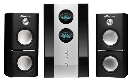 Arion Legacy Ar512Lr-Bk 2.1 Speaker System With Subwoofer & Remote For Mp3, Cd, Pc, Video Game Consoles, & Home Audio Systems - 80 Watts