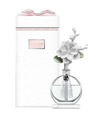 CHANDO Fantasy Collection 100ml Dazzling Charm Porcelain Diffuser, Sensual Camellia