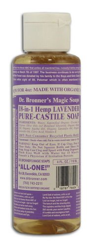 Dr Bronner Lavender Castile Liquid Soap (Pack of 3)