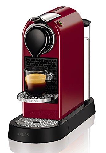 Krups Nespresso CitiZ Macchina per caffè con capsule 1L Nero, Rosso