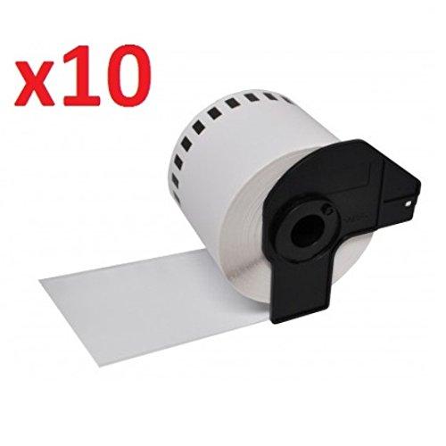 Compatible Brother DK11201 (10 Rouleaux avec Support) Étiquettes d'adressage standard pour P-Touch QL-500, QL-550, QL-560, QL-570, QL-580N, QL-650TD, QL-700, QL-720NW, QL-1050, QL-1060N Imprimantes d'étiquettes