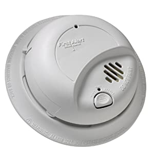First Alert BRK 9120B Hardwired Smoke Alarm with Battery Backup, Single