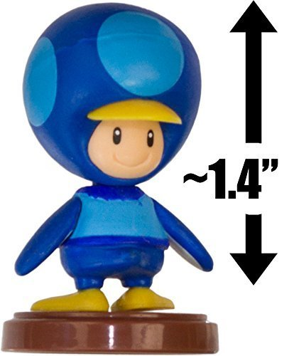"Penguin Toad - Blue: ~1.4"" New Super Mario Bros. Wii Choco Egg Mini Figure Series [NO CANDY] (Japanese Import) - 1"