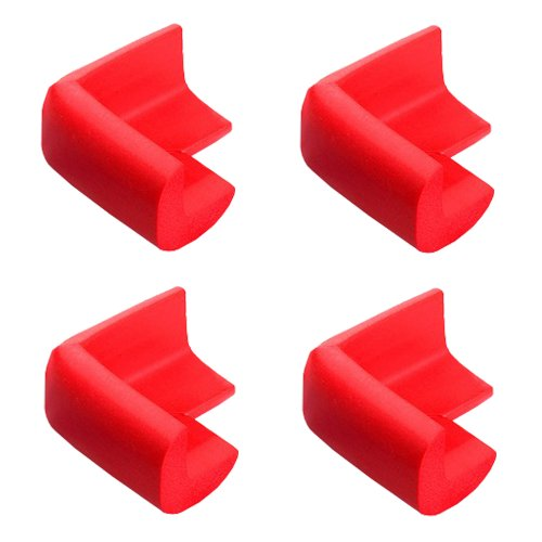 4Pcs Baby Table Edge Guard, Furniture Corner Safety Bumper, Red