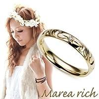 小森純プロデュースマレア リッチ Marea rich Hawaiian series K10 ハワイアンモチーフ リング ゴールド×ダイヤモンド 10号 11KJ-06