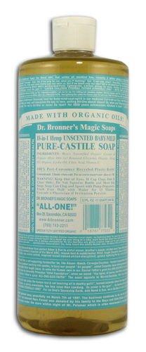 Dr Bronner Hemp Baby-Mild Pure Castile Soap Org