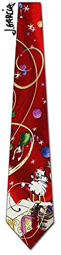 Jerry Garcia (Big Finish - Christmas) tie Mens Necktie (Jerry Garcia Christmas Ties compare prices)